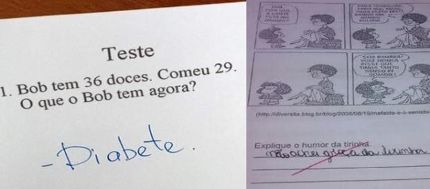 As melhores respostas dadas por crianças em provas.