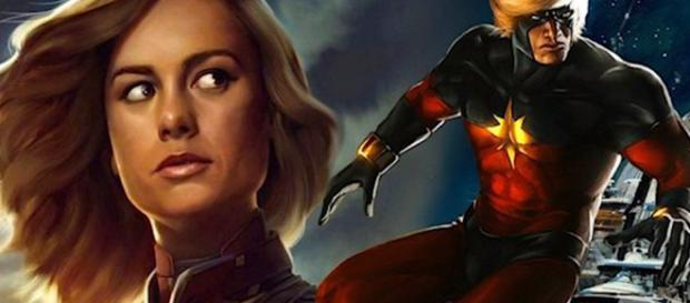 Avengers Infinity War Captain Marvel Brie Larson Costume Preview Breakdown [Image Credit: Emergency Awesome/YouTube screencap