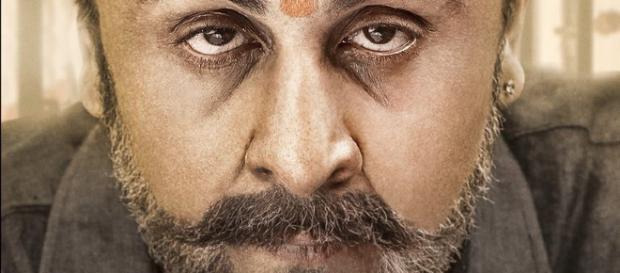 Ranbir Kapoor as Sanjay Dutt in Sanju poster (Image Credit: Rajkumar Hirani/Twitter)