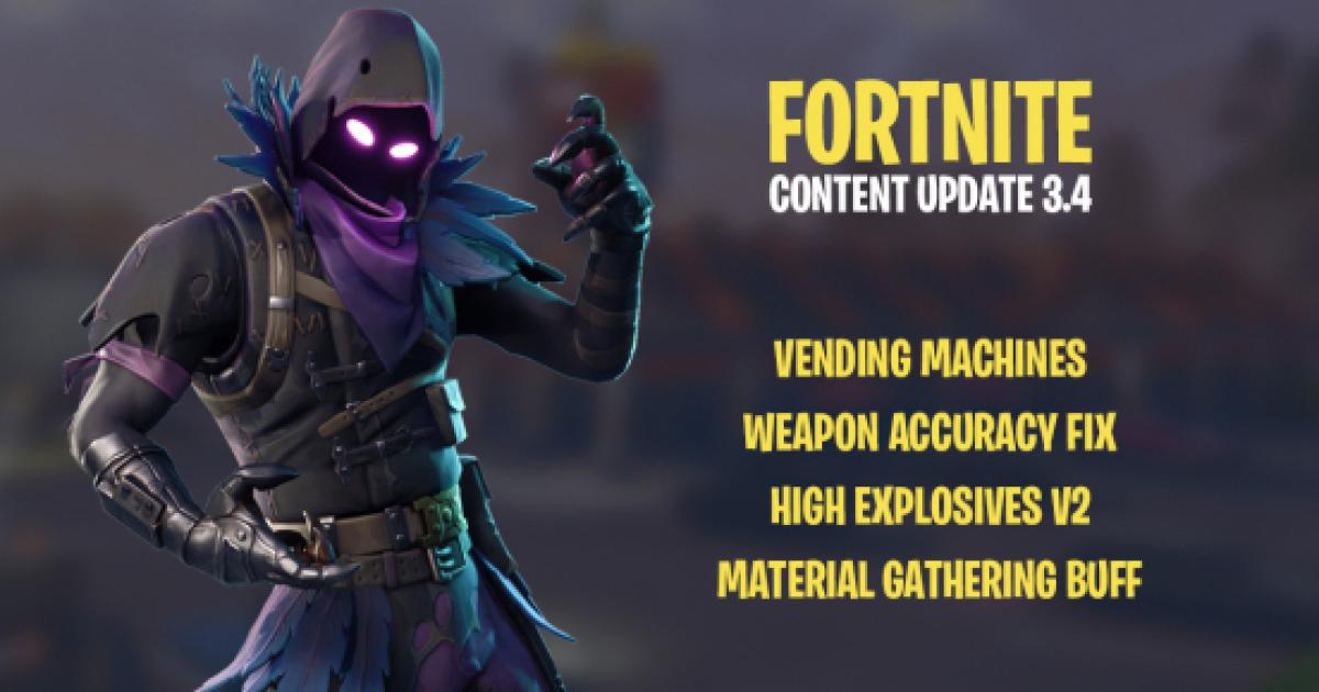 fortnite latest patch brings new feature weapon accuracy fix and more - material buff fortnite