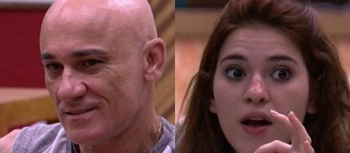 Ana Clara chama Ayrton de trouxa por gostar de Kaysar no BBB18 (Foto TV Globo)