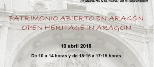 Cartel de la jornada Patrimonio Abierto en Aragón. Fuente: Yessica Espinosa
