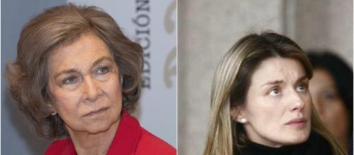 Doña Sofía y la reina Letizia en imagen