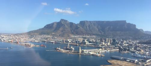 Sky view of Table Mountain and surround city in Cape Town, South Africa. - [Image via Katie Welsh]