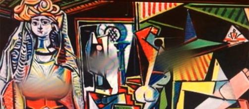 """""""Les femmes d'Alger"""" by Picasso with details blurred by Fox News flickr.com"""