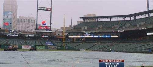 Tigers opening day was one of many postponed games so far. [image source - WXYZ-TV Detroit | Channel 7 / Youtube]