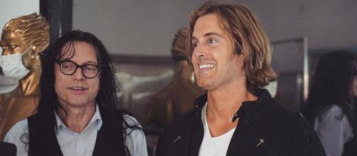 Tommy Wiseau and Greg Sestero on set of 'Best F(r)iends' (image via 'Best F(r)iends' /Youtube)