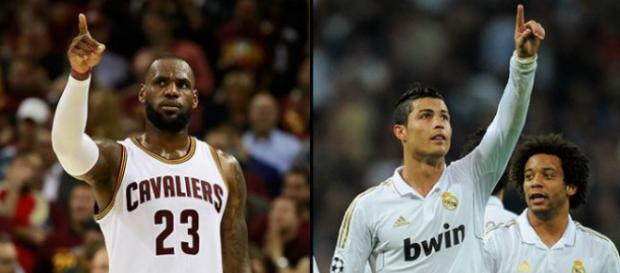 Cristiano Ronaldo and LeBron James rompiendo record