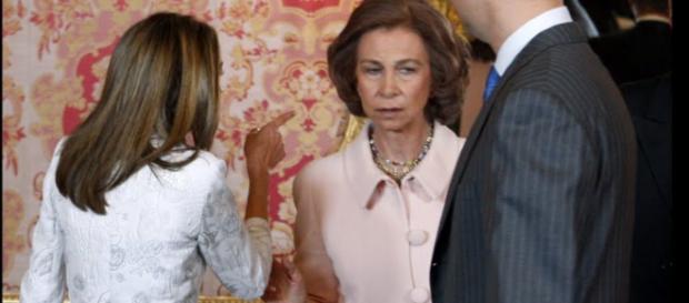 La reina Letizia y Doña Sofía enfadadas