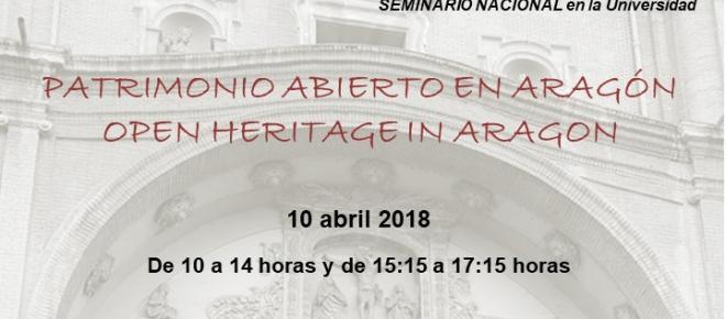 El I Seminario nacional en la universidad de 'Patrimonio Abierto' en Aragón
