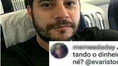 Evaristo Costa dá patada em seguidora que disse que ele estava 'gastando demais'