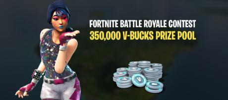 """""""Fortnite Battle Royale"""" contest has a prize pool of 350,000 V-Bucks! Image Credit: Own work"""