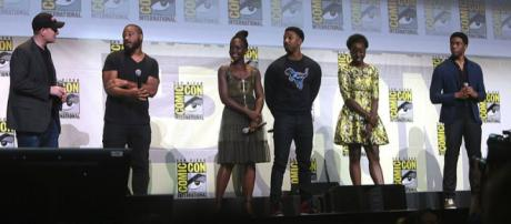 """The cast of """"Black Panther""""at the San Diego Convention Center in California (Image credit – George Skidmore, Wikimedia Commons)"""