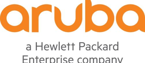 El logo de la compañia Aruba Hewlett Packard Enterprise