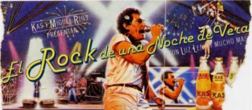Entrada de uno de los conciertos celebrados durante la exitosa gira, El Rock de una Noche de Verano