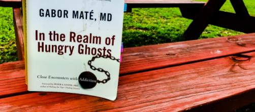 Gabor Maté's book, 'In the Realm of Hungry Ghosts: Close Encounters with Addiction.' (Photo by Danielle Lilly)