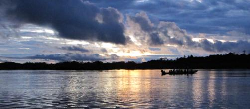 Sunset at Laguna Negra, Cuyabeno- Ecuador. Image credit: Sara Andreini
