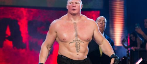 WWE superstar and former UFC heavyweight champion Brock Lesnar | (Image By RayTerston (Own work) via Wikimedia Commons)