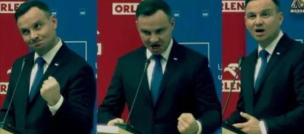 Andrzej Duda zachowywał się dziwnie (youtube.com).