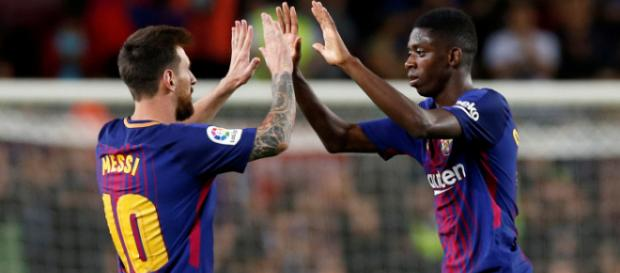 Dembele peine encore à s'imposer en tant que titulaire dans le 11 de départ barcelonais.