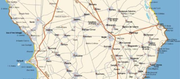Mappa del Salento. Foto by salento.it