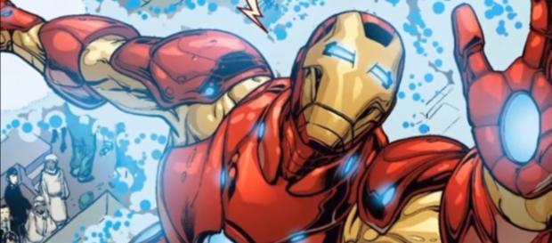 Tony Stark's Bleeding Edge armor on the comic books. [Image via New Sage/YouTube screencap]