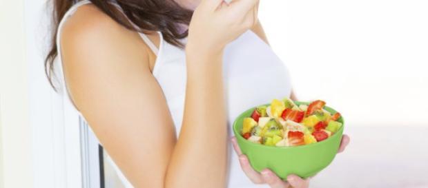 Uma boa alimentação na gravidez é importante.