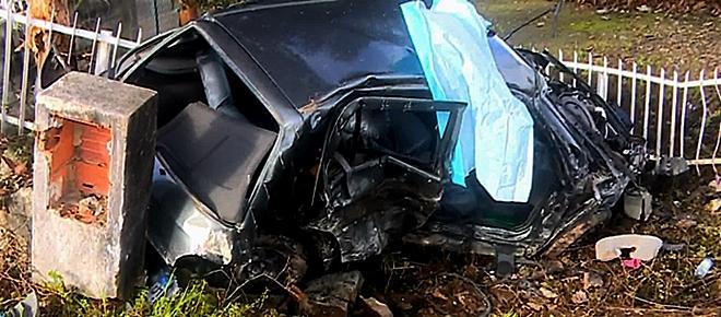 Condutor de 18 anos morre em despiste contra muro de moradia