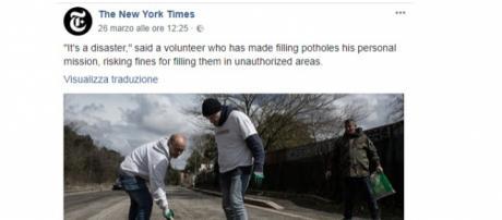 Il New York Times sulle buche di Roma