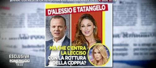 Addio tra Tatangelo e D'Alessio, cosa c'entra Loredana Lecciso? -
