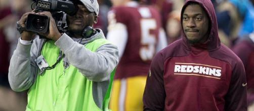 RGIII is still appreciated Redskins fans. [image source: Keith Allison/Wikimedia Commons]