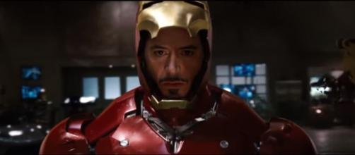 Tony Stark suiting up as Iron Man. [Image via DeathStocker/YouTube screencap]