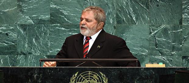 Ex-presidente Lula discursa na Assembléia Geral da Organização das Nações Unidas (ONU), em 2009.