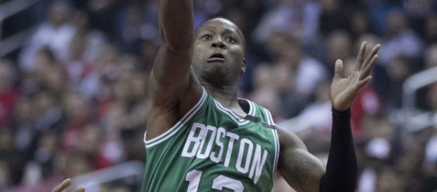 Terry Rozier must bring his game to the next level in the playoffs to help the Celtics advance without Kyrie (Image via Wikipedia Commons).