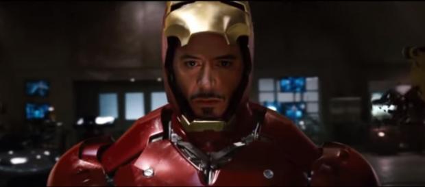 Tony Stark suiting up as Iron Man. [Image via DeathStocker/YouTube screencap]