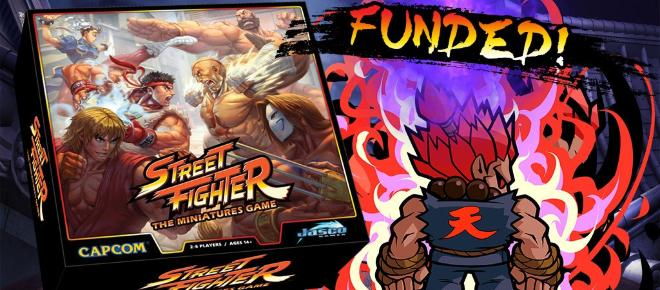 'Street Fighter: The Miniatures' game kickstarter funded