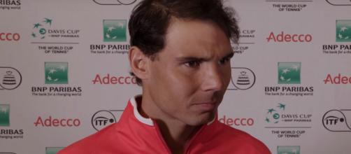 Rafael Nadal led Spain into another Davis Cup semifinal. Photo: screenshot via Davis Cup by BNP Paribas channel on YouTube