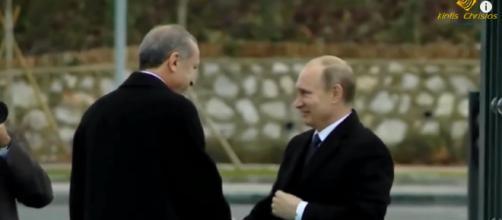 Turkey Up for Bid Between Putin and Trump? [image source: Christos Kintis/YouTube screenshot]