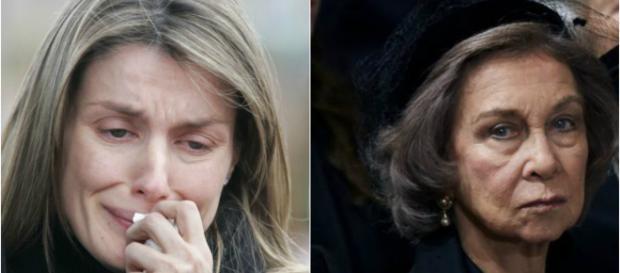 La reina Letizia y la reina emérita en imagen