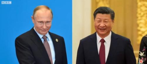 A new formed alliance between Russia and China raises alarm. [Image source: BBCNews/Youtube]