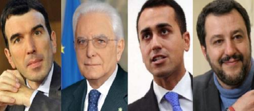 Martina, Mattarella, Di Maio e Salvini