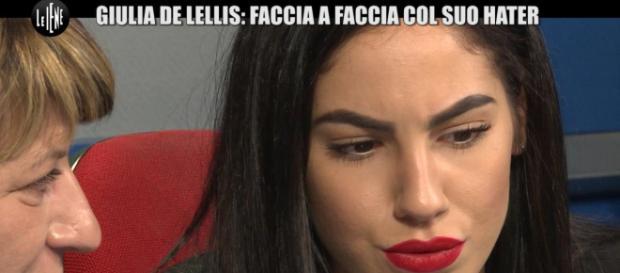 Giulia De Lellis ha incontrato il suo hater a Le Iene