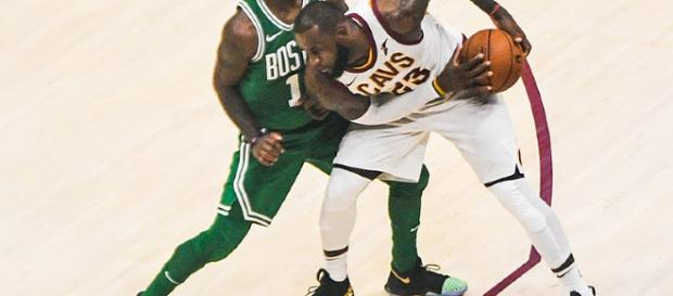 Lebron and Kyrie battle. - [Photo Via Erik Drost / Wikimedia Commons]