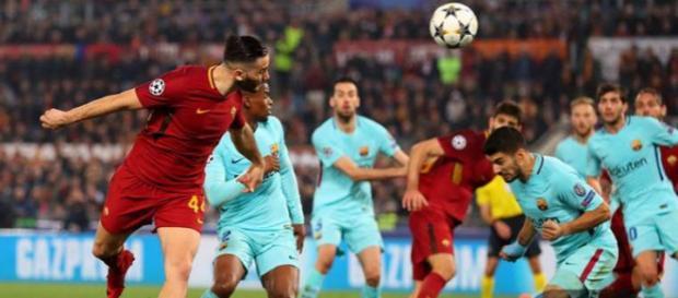Manolas mandó a la Roma a su primera semifinal de Champions, en el nuevo formato. - fcbarcelonanoticias.com.