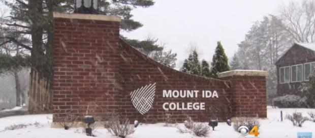 Mount Ida College prepares for its merger into the Umass consortium. [image source: CBS News/YouTube screenshot]