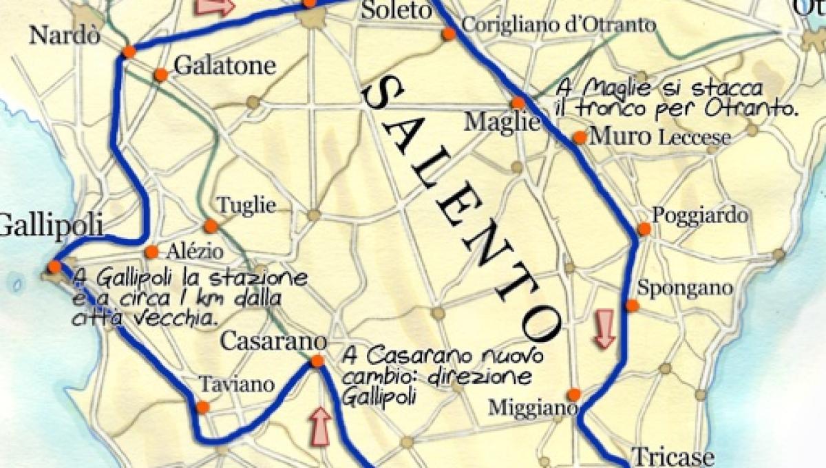 Cartina Puglia Lecce
