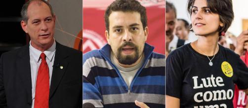 Ciro Gomes, Guilherme Boulos e Manuela D'Ávila podem ganhar força nestas eleições 2018.