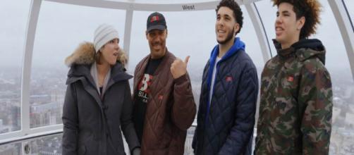 Ball family on the London ferris wheel/Facebook