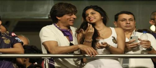 Shahrukh Khan's daughter Suhana during a IPL game (Image Credit: Star Sports/screencap)