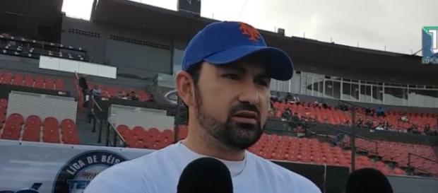 Adrian Gonzalez brough in four runs with one bat. [image source: TJ Sports -YouTube]